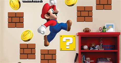 mario wall sticker mario wall stickers mario room designs