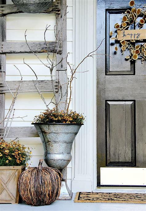 autumn front door decorating ideas fall home tour home tours fall and farms