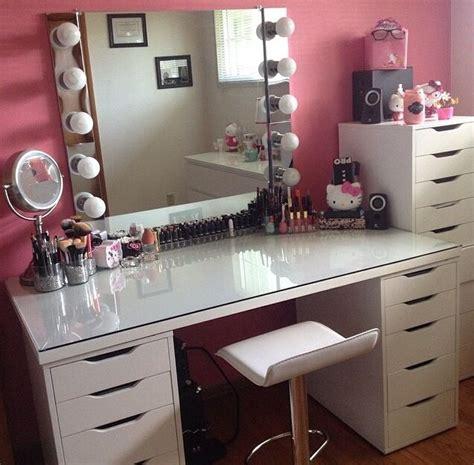 ideas vanities with desk surripuinet marvellous table pics linnmon alex table makeup vanity chair vanity
