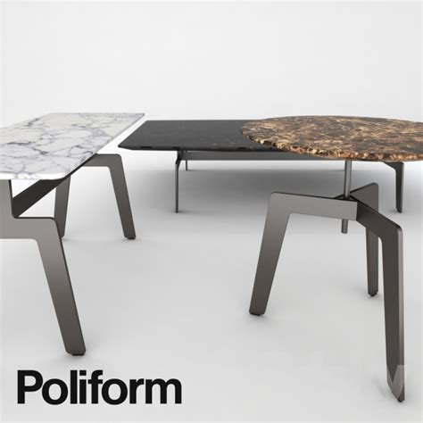 tribeca coffee table 3d models table poliform tribeca coffee table