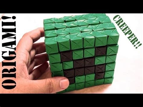 how to make a origami creeper minecraft mini creeper part 2 3d sonobe daily