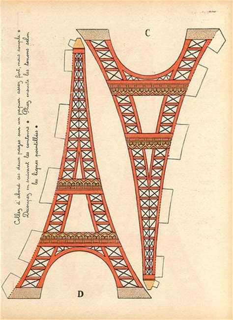 eiffel tower craft for eiffel towers towers and craft patterns on
