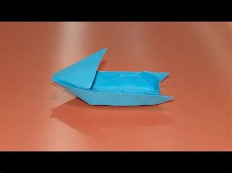 origami speed boat how to make an origami motorboat boat 03