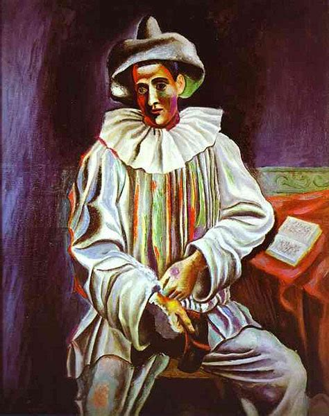 picasso paintings clowns pablo picasso pierrot 1918