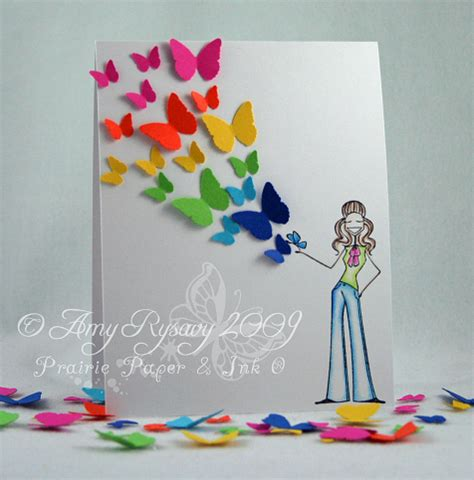 butterfly cards to make prairie paper ink butterfly