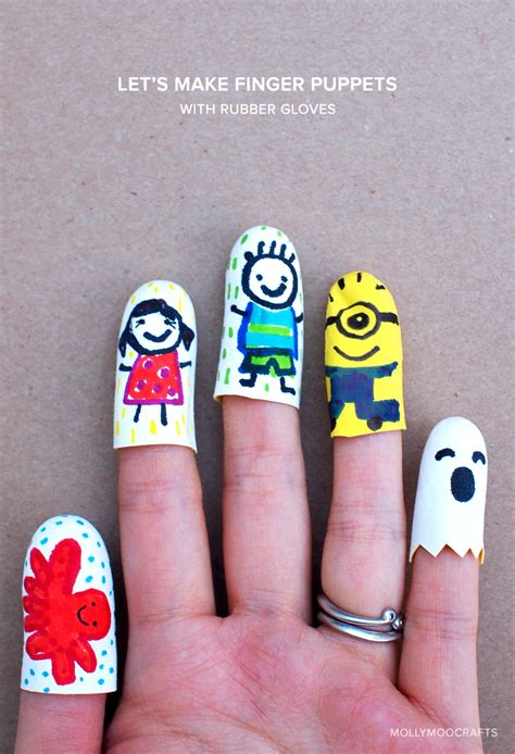 how to make your own rubber st mollymoocrafts easy finger puppets
