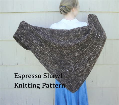 knitted shawl patterns free easy espresso shawl pdf knitting pattern easy knit worsted by