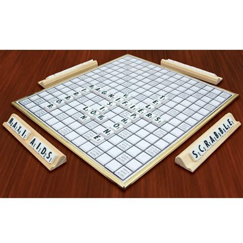 scrabble sets deluxe low vision scrabble set board