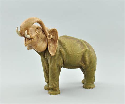 porcelain elephant a royal dux austrian porcelain elephant figure ca 1900