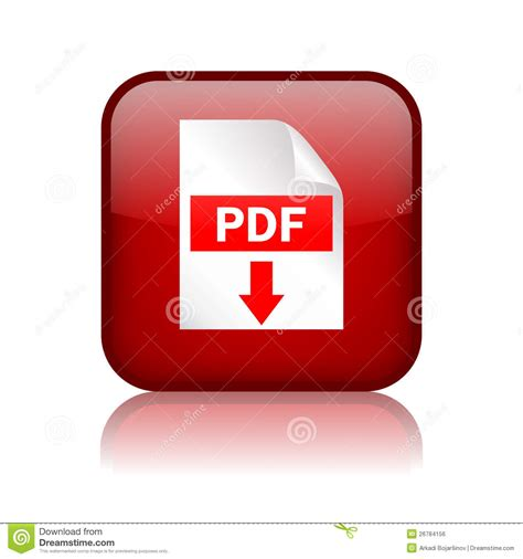 pdf with picture free pdf button royalty free stock image image 26784156