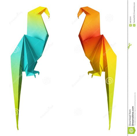 origami parrot origami parrot stock images image 29870344