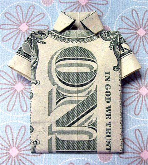 shirt money origami 50 spectacular origami designs made from money