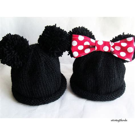 mickey mouse knit hat knitted mickey mouse hat pattern mickey minnie mouse