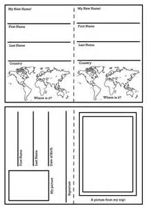 templates for children to make 25 best ideas about passport template on