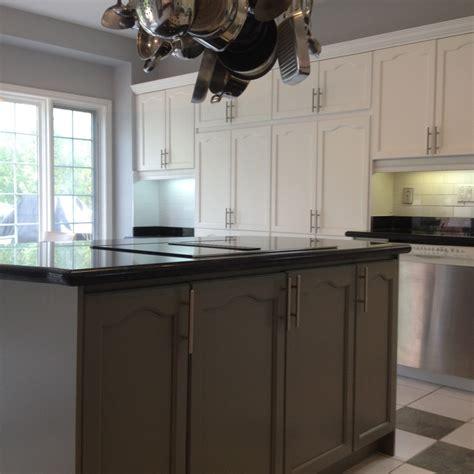 spray painting kitchens spray painted oak kitchen cabinet refinishing spray