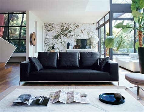 living room design with black leather sofa unique living room design ideas with black leather