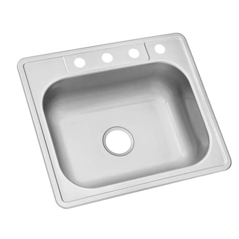 glacier bay stainless steel kitchen sink glacier bay drop in stainless steel 25 in 4 single