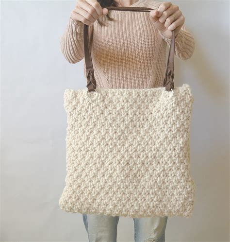knitting bag pattern aspen mountain knit bag pattern in a stitch