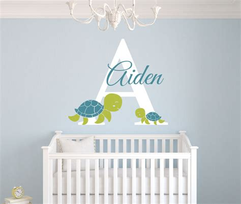 personalized nursery wall decals personalized turtles name wall decal room nursery wall