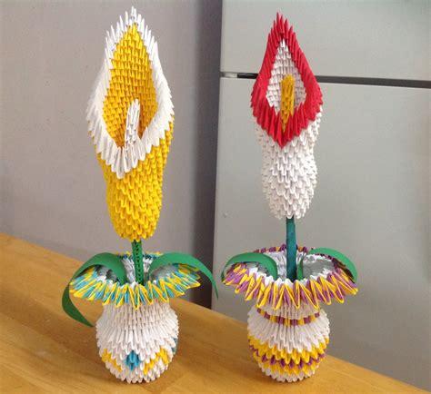 origami 3d flower vase vase 3d origami origami flower paper