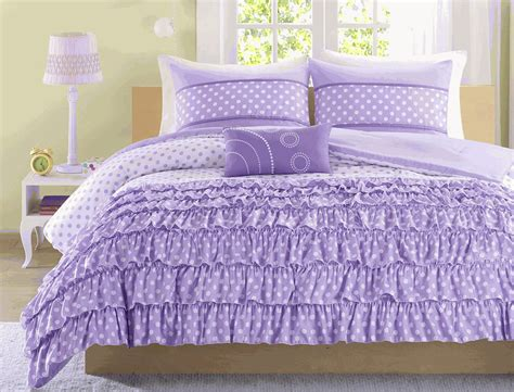 purple polka dot comforter sets purple ruffles polka dot comforter set