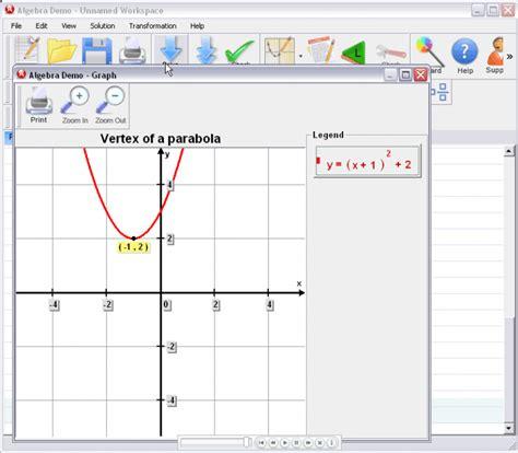 of a algebrator vertex of a parabola