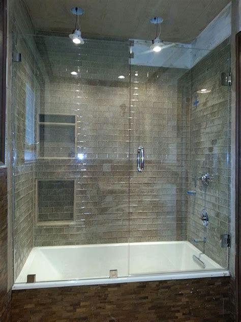 bathtubs with glass shower doors best 25 bathtub enclosures ideas on tub