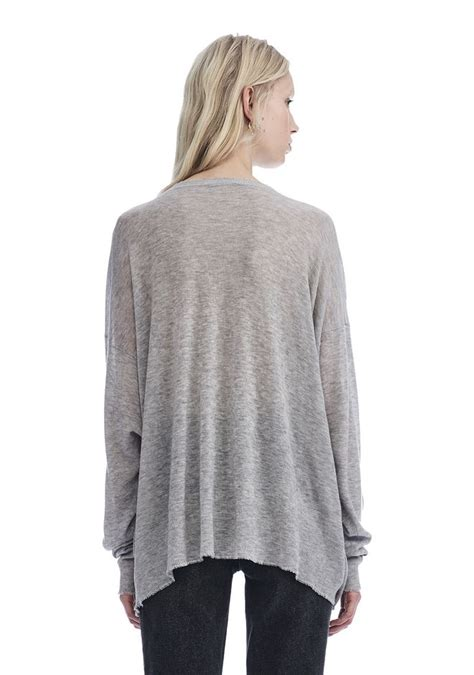 oversized knit pullover gauze knit oversized pullover top wang