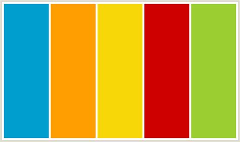 Yellow Colour Combination colorcombo168 with hex colors 009ece ff9e00 f7d708