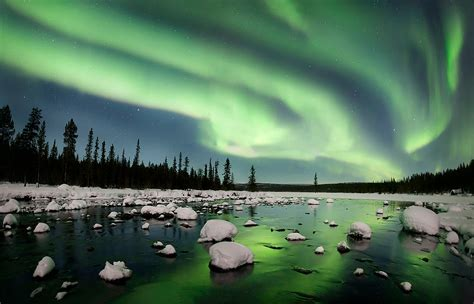 swedish lights borealis northern light in swedish lapland