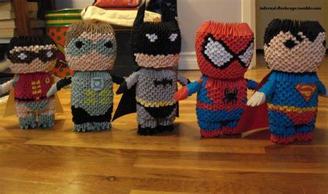 3d origami superman friends album lunarorigami 3d origami