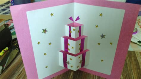 how to make a pop up birthday card for how to make handmade pop up birthday cards step by step