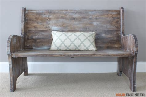 church pew woodworking plans diy furniture for a beautiful foyer
