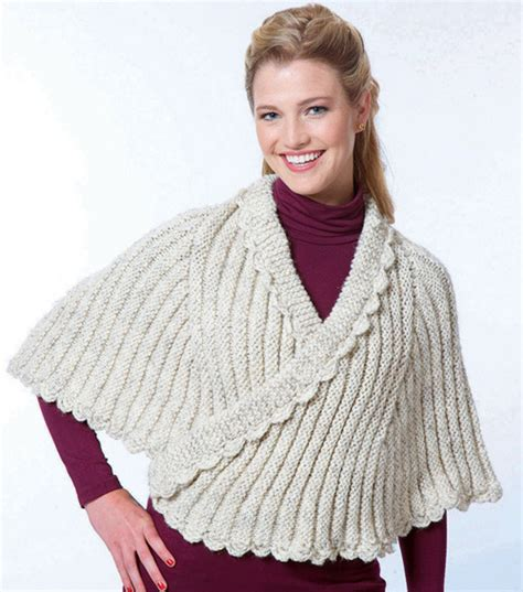 cape knit more capes to knit 13 free patterns grandmother s