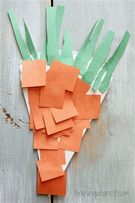 carrot craft for paper plate carrot