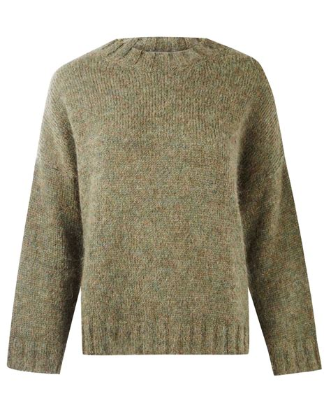 thick knit masscob green fluffy mohair thick knit jumper in green lyst