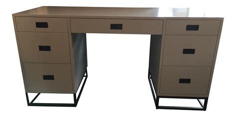 restoration hardware desk restoration hardware white avalon storage desk chairish