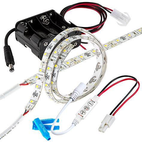 battery led light strips battery powered led light strips kit single color 2