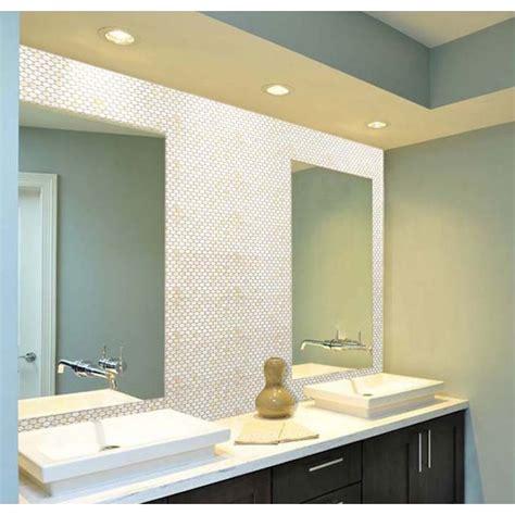mosaic tile bathroom mirror of pearl tile bathroom mirror wall backsplash