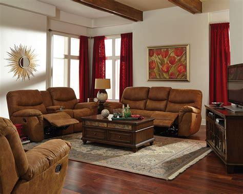 reclining living room set hancox light brown reclining living room set from coaster