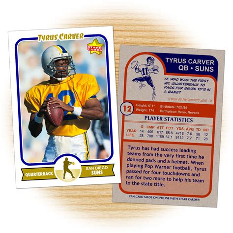make your own football cards make your own football card with cards