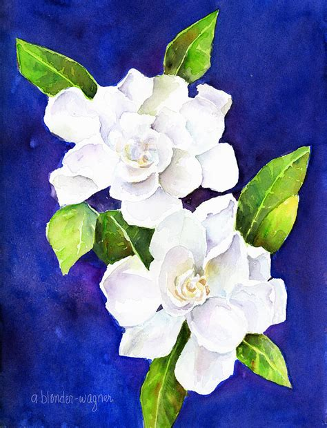 Gardenia Watercolor The Fragrant Gardenia By Arline Wagner