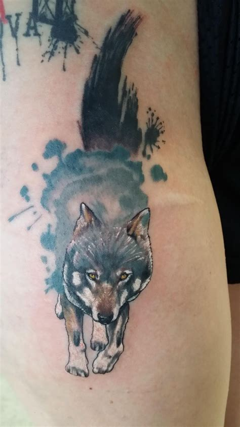 best 25 watercolor wolf tattoo ideas on pinterest