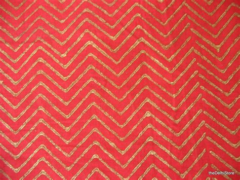gold chevron print and gold sted chevron print cotton fabric by