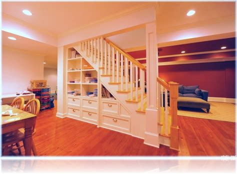 Hockey Bedroom Ideas basement stairs design storage useful basement stairs