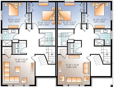 family floor plans sleek modern multi family house plan 22330dr architectural designs house plans