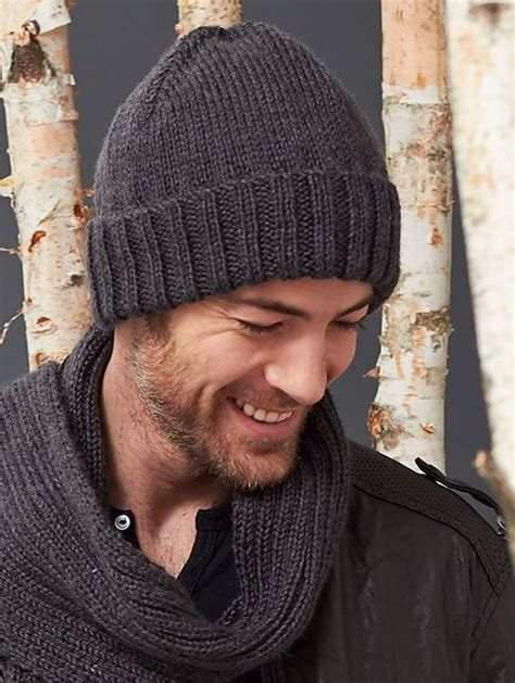 free knitting pattern mens beanie s basic hat and scarf set free pattern scarves and