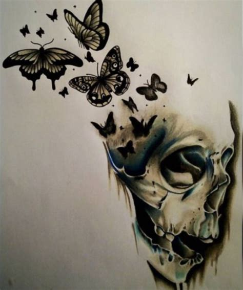 25 unique skull butterfly tattoo ideas on pinterest