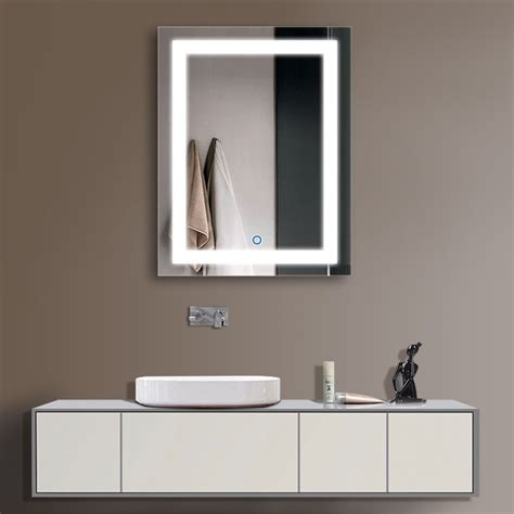 led illuminated bathroom mirrors decoraport vertical led illuminated lighted bathroom wall