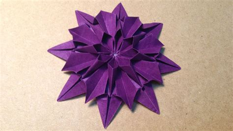 an origami flower origami flower dahlia